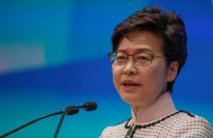 Hong Kong Chief Executive Carrie Lam holds a news conference after …