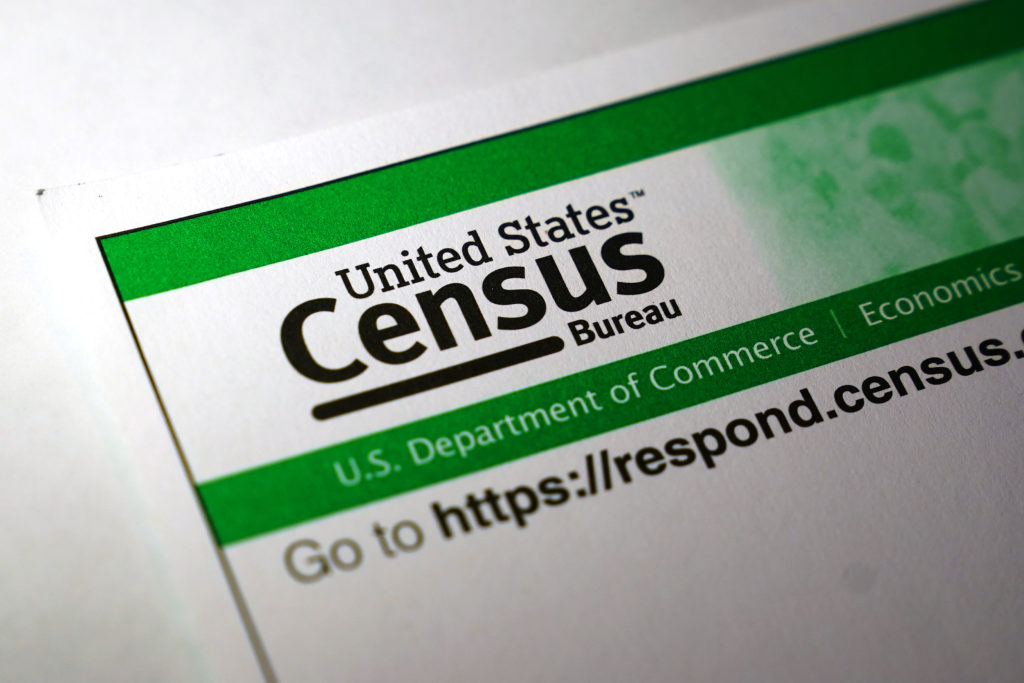 U.S. Census paperwork is pictured in this photo illustration in the…
