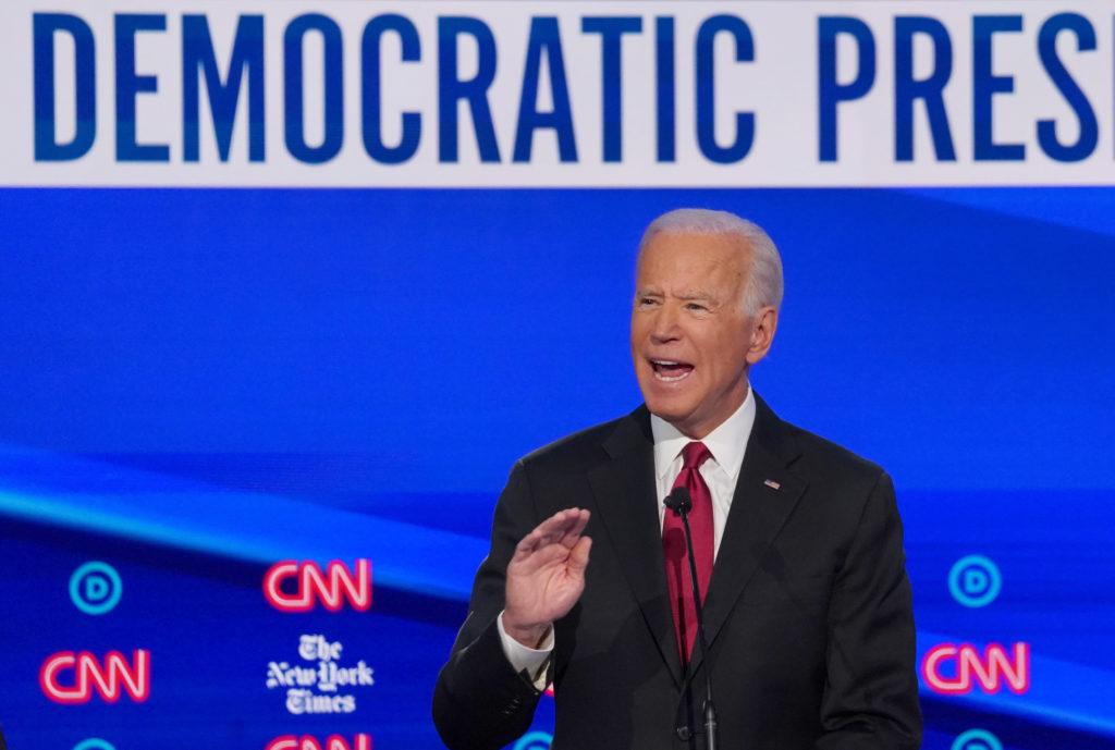 Democratic presidential candidate and former Vice President Joe Bid…