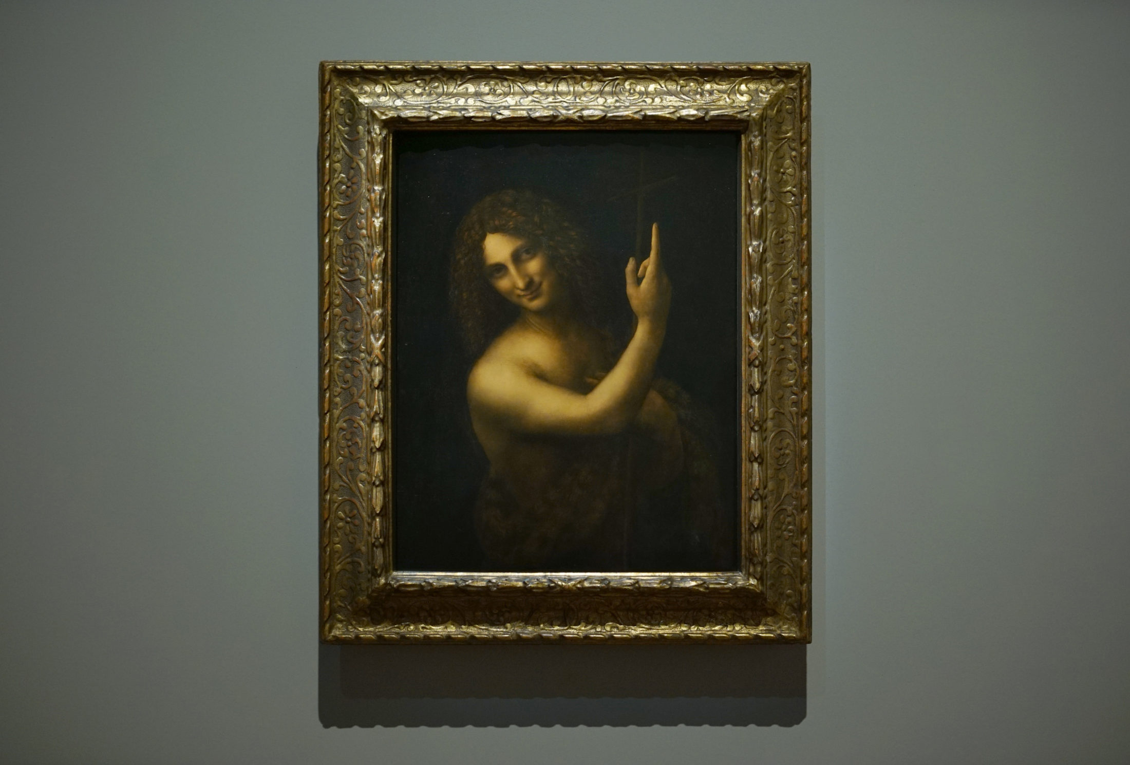 "Da Vinci's ""Saint John the Baptist."" Photo by Joshua Barajas/PBS NewsHour"