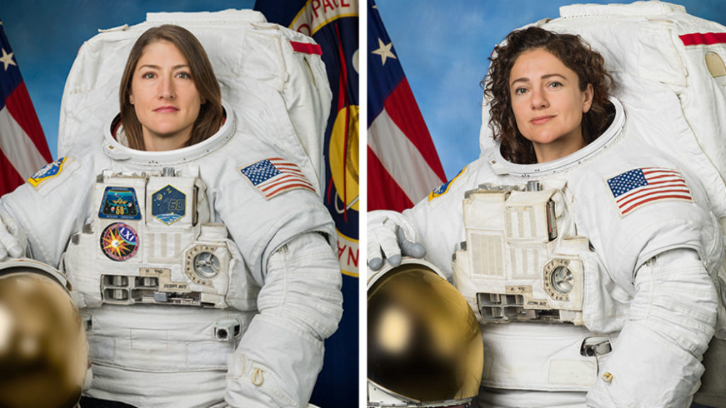 NASA astronauts Christina Koch and Jessica Meir Photo by NASA