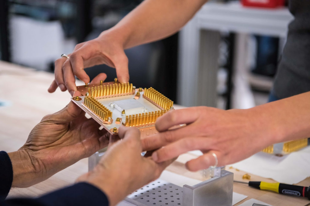 A handout picture from October 2019 shows a component of Google's Quantum Computer in the Santa Barbara lab, California, U.S. Photo by Google / Handout via REUTERS
