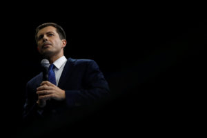 Democratic 2020 U.S. presidential candidate Mayor Pete Buttigieg speaks at a Democratic Party fundraising dinner, the Liberty and Justice Celebration, in Des Moines, Iowa, U.S. November 1, 2019. Photo by Eric Thayer/Reuters