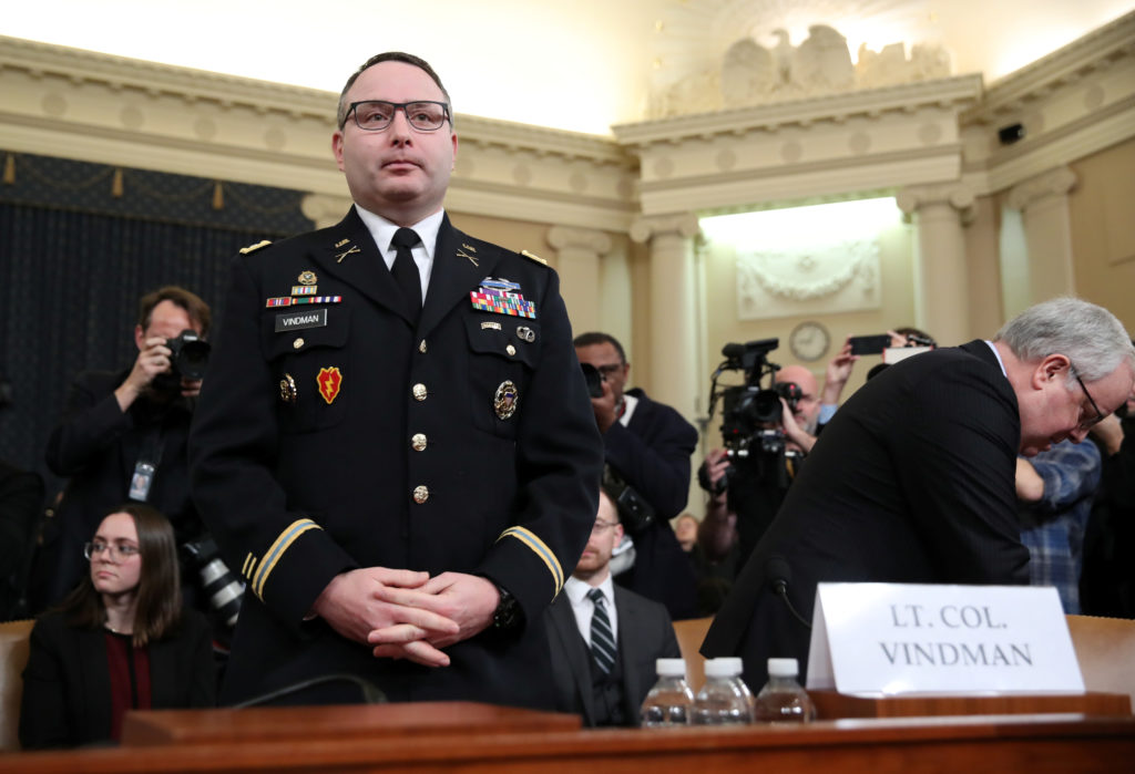 'I am an American,' Vindman reminds Trump allies in hearing