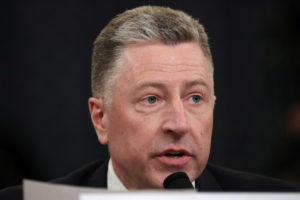 Former U.S. special envoy to Ukraine Kurt Volker testifies before a House Intelligence Committee hearing as part of the impeachment inquiry into U.S. President Donald Trump on Capitol Hill in Washington, U.S., November 19, 1019. REUTERS/Loren Elliott