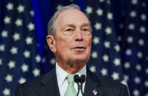 Democratic U.S. presidential candidate Michael Bloomberg addresses a news conference after launching his presidential bid in Norfolk, Virginia, Nov. 25, 2019. Photo by Joshua Roberts/Reuters