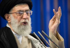 Iranian Supreme Leader Ayatollah Ali Khamenei speaks during Friday prayers in Tehran, September 14, 2007. Photo by REUTERS/Morteza Nikoubazl/File Photo