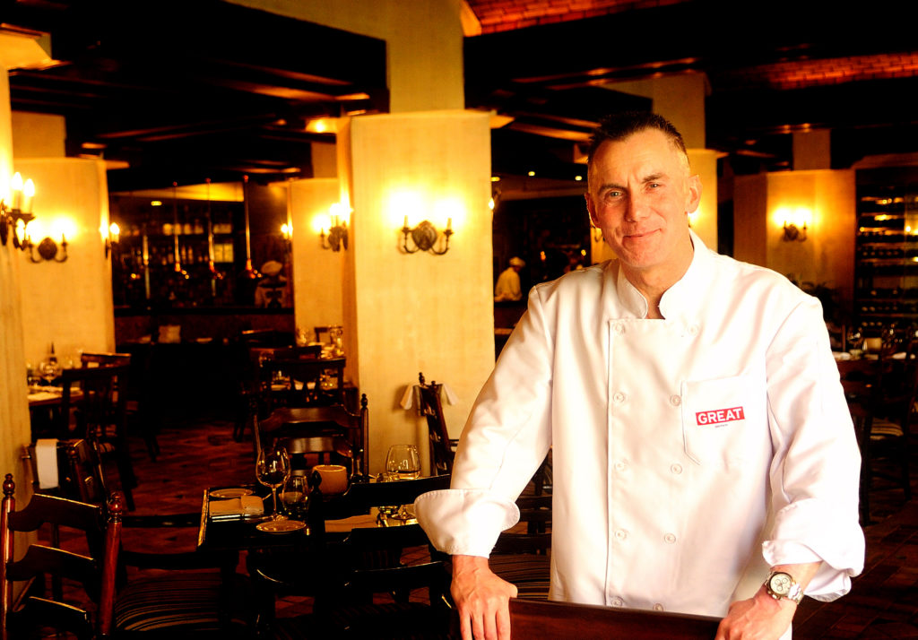 Chef Gary Rhodes photographed at the Hyatt Regency in Delhi in 2012. (Photo by Pradeep Gaur/Mint via Getty Images)