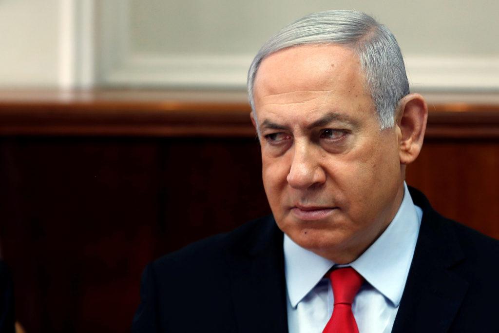 Israeli Prime Minister Benjamin Netanyahu holds a cabinet meeting in Jerusalem November 13, 2019. REUTERS/Ronen Zvulun