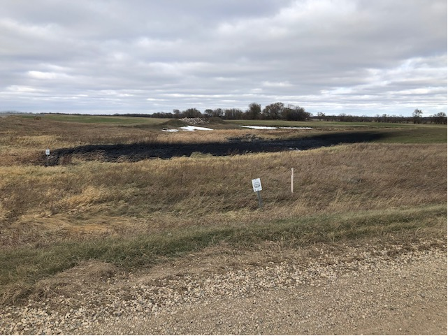A view of the Keystone pipeline spill in Walsh County, North Dakota on Oct. 30, 2019. Photo by Taylor DeVries/North Dakota Department of Environmental Quality