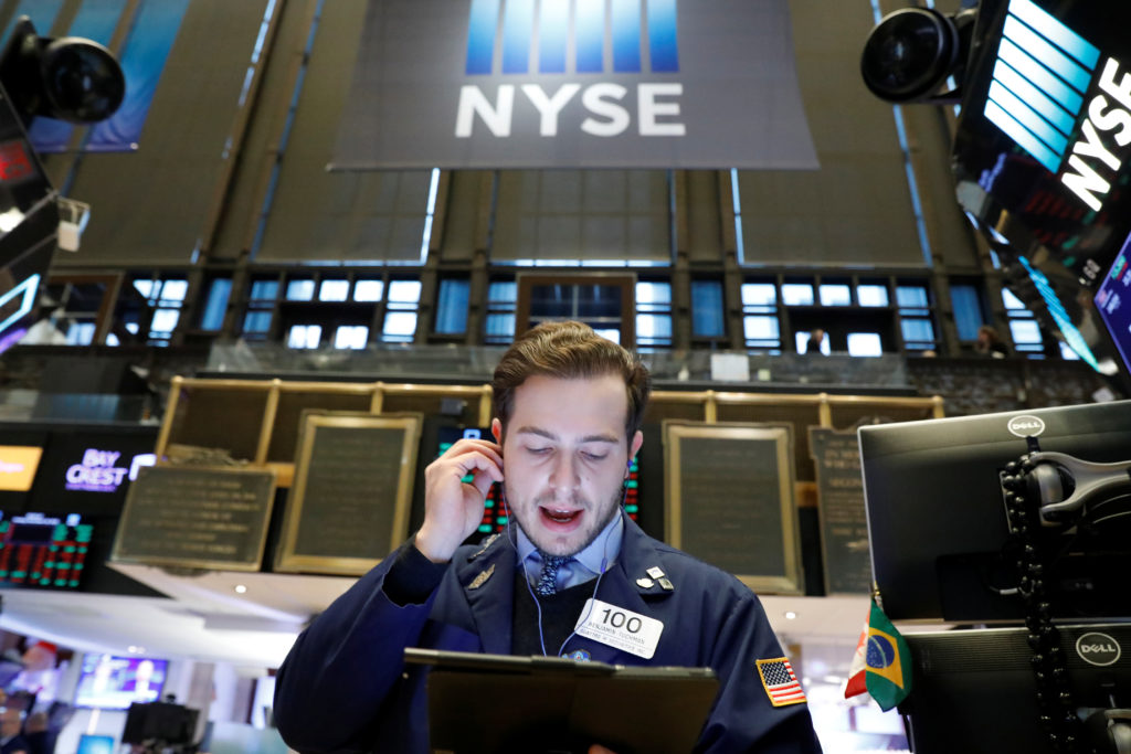 Stocks moved broadly lower in afternoon trading on Wall Street Wednesday as investors turned anxious about the possibility...