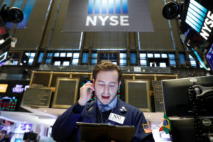 Stocks moved broadly lower in afternoon trading on Wall Street Wednesday as investors turned anxious about the possibility that the U.S. and China may not reach a trade deal before next year. Photo by REUTERS/Brendan McDermid