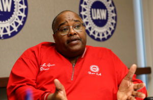 United Auto Workers (UAW) acting president Rory Gamble speaks to Reuters from his office in Southfield, Michigan, U.S. November 6, 2019. Photo by REUTERS/Rebecca Cook/File Photo