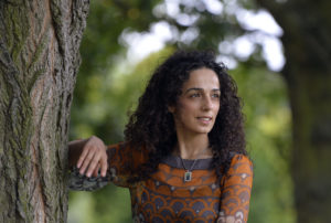 Masih Alinejad, 37, a Britain-based Iranian journalist, poses for a portrait in London October 8, 2013. Photo by Toby Melville/Reuters