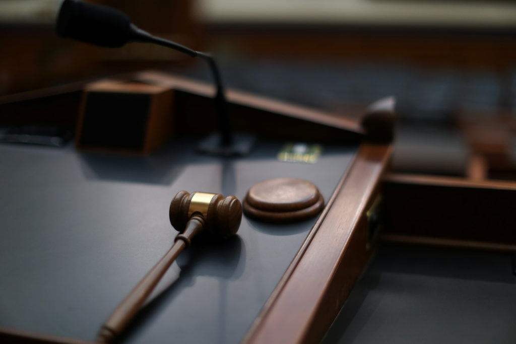 A gavel sits on the chairman's dais in the U.S. House Judiciary Com…