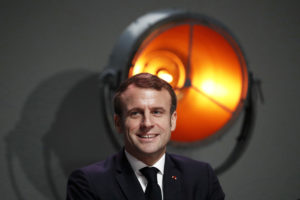 French President Emmanuel Macron attends the annual conference of the French maritime economy in Montpellier, France December 3, 2019. Photo by Guillaume Horcajuelo/Pool via REUTERS.