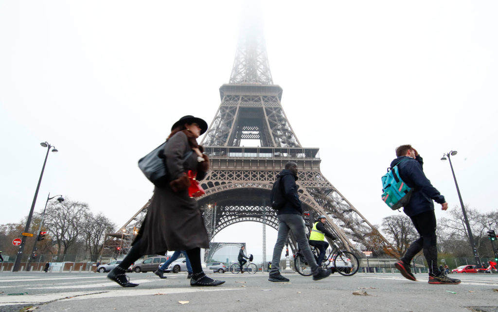 Mass strike in France hits trains, Eiffel Tower