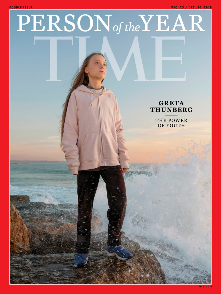 Time cover features Swedish teen climate activist Greta Thunberg named the magazine's Person of the Year for 2019 in this undated handout. TIME via REUTERS