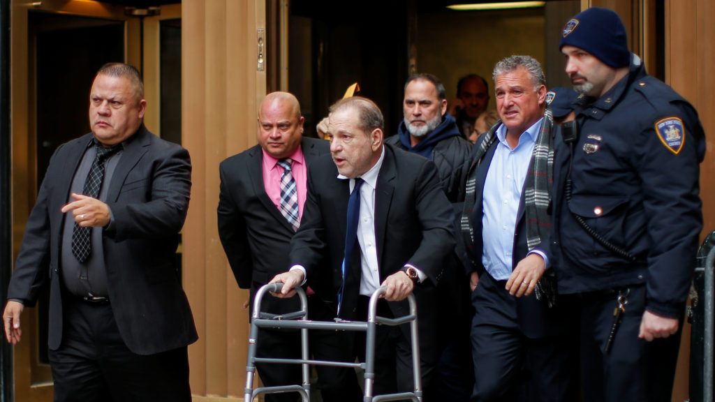 Film producer Harvey Weinstein exits the the New York Supreme Court in New York, U.S., December 11, 2019. Photo by Eduardo...