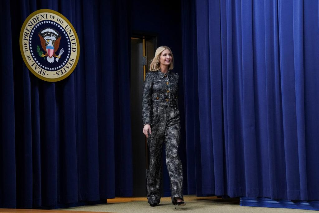 White House senior advisor Ivanka Trump arrives to introduce U.S. P…