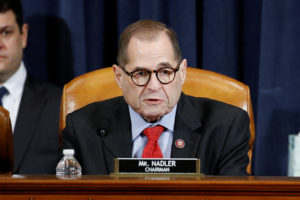 House Judiciary Committee Charman Rep. Jerrold Nadler, D-N.Y., votes to approve the second article of impeachment against President Donald Trump during a House Judiciary Committee meeting on Capitol Hill, in Washington, U.S., December 13, 2019. Patrick Semansky/Pool via REUTERS