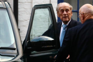 Britain's Prince Philip enters a car as he leaves the King Edward VII's Hospital in London, Britain December 24, 2019. Photo by Hannah McKay/Reuters