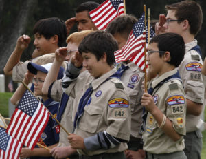 Boy Scouts of America troop members attend a Memorial Day weekend commemorative event in Los Angeles, California, May 25, 2013. Photo by REUTERS/Jonathan Alcorn