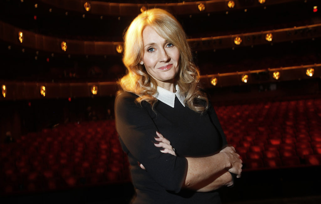 """Author J.K. Rowling poses for a portrait while publicizing her adult fiction book """"The Casual Vacancy"""" at Lincoln Center in New York October 16, 2012. Photo by REUTERS/Carlo Allegri"""