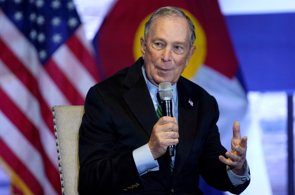 Democratic U.S. presidential candidate Michael Bloomberg speaks about his gun policy agenda in Aurora, Colorado, U.S. December 5, 2019. REUTERS/Rick Wilking - RC29PD9PXYWF
