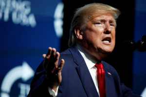 FILE PHOTO: U.S. President Donald Trump delivers remarks at the Turning Point USA Student Action Summit at the Palm Beach County Convention Center in West Palm Beach, Florida, U.S. December 21, 2019. REUTERS/Marco Bello/File Photo