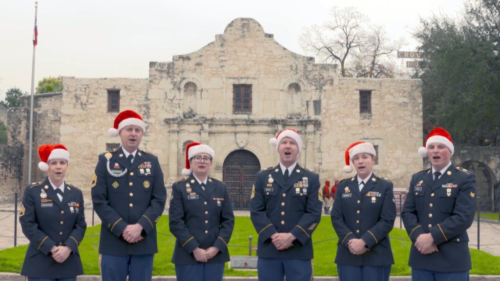 U.S. troops around the world sing 'God Rest Ye Merry Gentlemen'