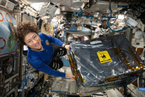 NASA astronaut and engineer Christina Koch is expected to spend a total of 328 days, or nearly 11 months, on board the space station before returning to Earth. Photo handout via NASA