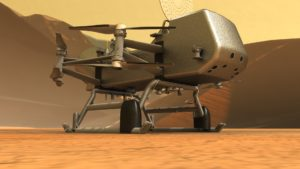 The Dragonfly rotorcraft will be able to fly over 100 miles to multiple locations on Saturn's moon, Titan. Image by NASA