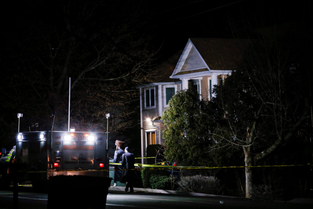 Five people were stabbed at a Hasidic rabbi's home in Monsey, New York, on December 29. 2019. Photo by Eduardo Munoz/Reuters