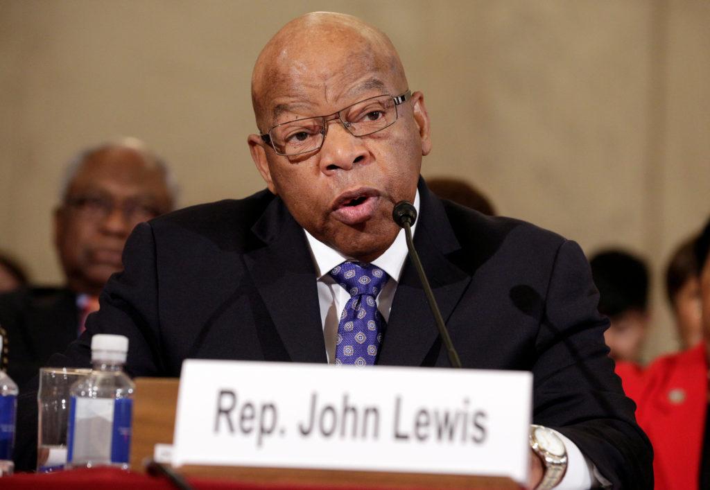 Rep. John Lewis (D-GA) testifies to the Senate Judiciary Committee on January 11, 2017. Photo by Joshua Roberts/Reuters