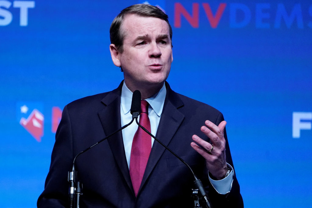 Michael Bennet appears on stage at a First in the West Event at the…