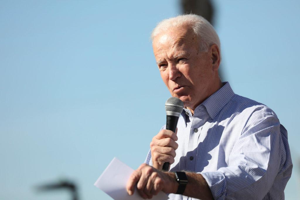 U.S. Democratic presidential candidate and former Vice President Joe Biden speaks in Los Angeles, California, U.S., Decemb...