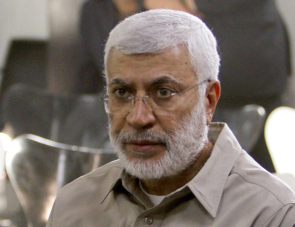 FILE PHOTO: Abu Mahdi al-Muhandis, a commander in the Popular Mobil…