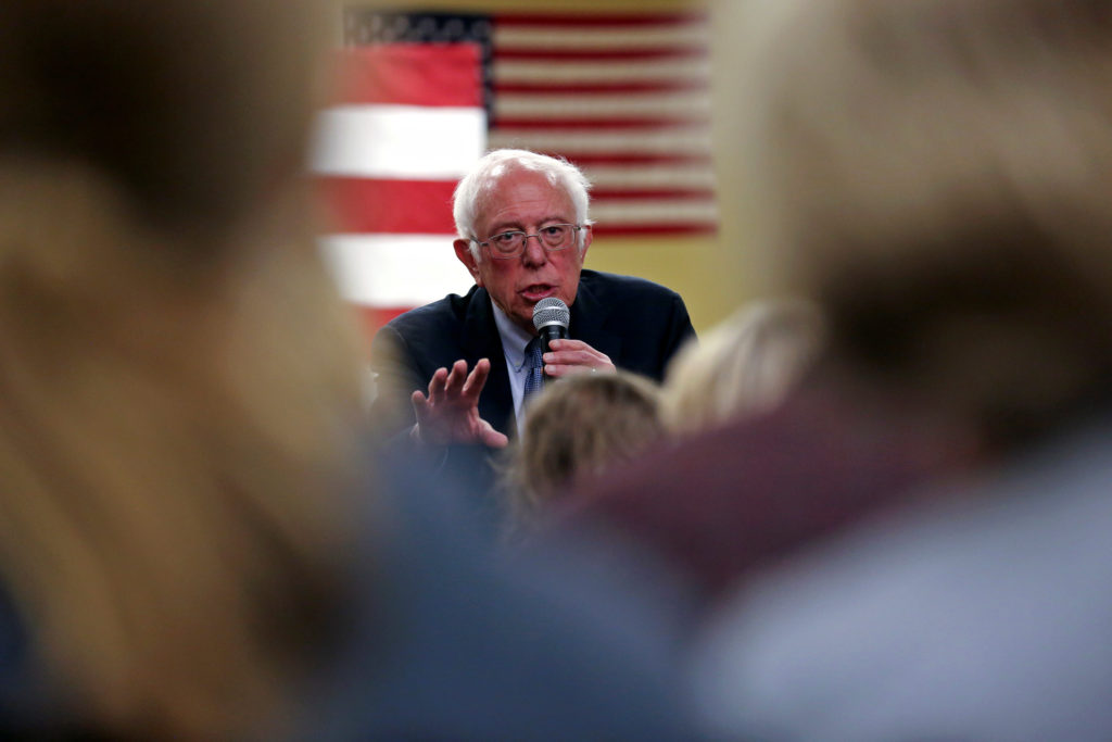 Democratic U.S. presidential candidate Senator Bernie Sanders speak…
