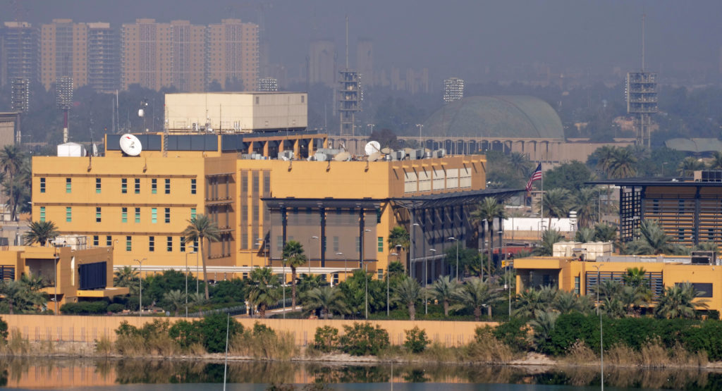 A general view of the U.S. Embassy at the Green zone in Baghdad, Ir…