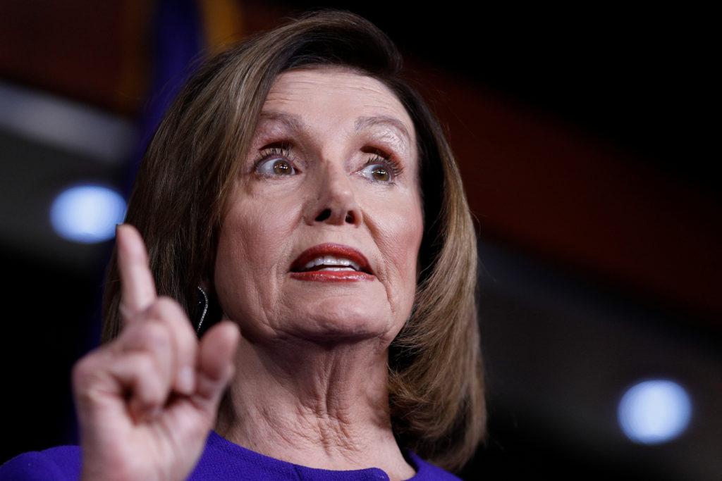 U.S. Speaker of the House Nancy Pelosi (D-CA) speaks ahead of a Hou…