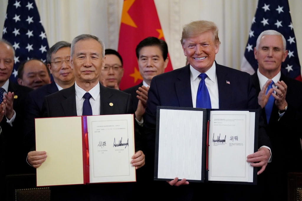 us china trade deal phase 1 signing time