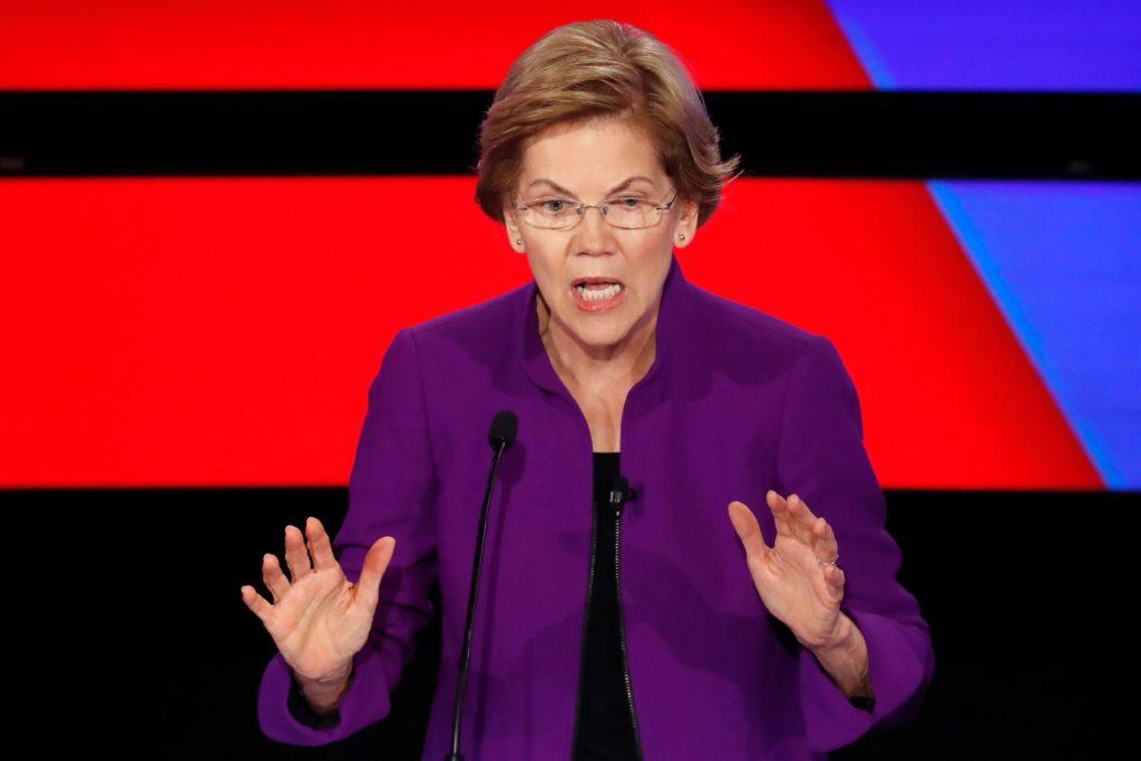 Democratic 2020 U.S. presidential candidate Senator Elizabeth Warre…