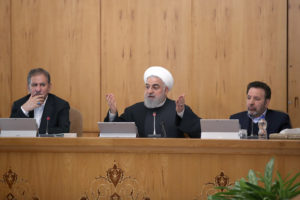Iranian President Hassan Rouhani speaks during the cabinet meeting in Tehran, Iran, January 15, 2020. Official President website/Handout via Reuters