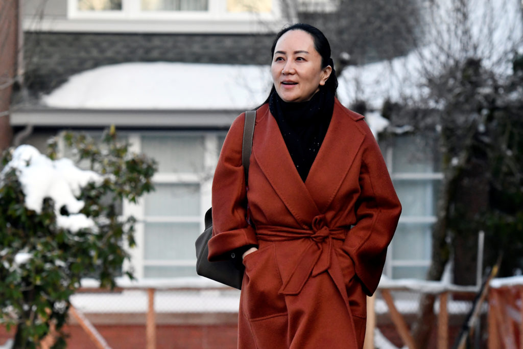 FILE PHOTO: Huawei Chief Financial Officer Meng Wanzhou leaves her home to attend a case management conference in advance of her extradition hearing at B.C. Supreme Court in Vancouver, British Columbia, Canada January 17, 2020. Photo by /Jennifer Gauthier/Reuters