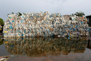 FILE PHOTO: Plastic waste piled outside an illegal recycling factory in Jenjarom, Kuala Langat, Malaysia October 14, 2018. Picture taken October 14, 2018. REUTERS/Lai Seng Sin/File Photo