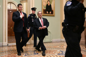 House Impeachment manager Rep. Jerry Nadler (D-NY) exits the Senate chamber after the third day of the Senate impeachment trial of U.S. President Donald Trump at the U.S. Capitol in Washington, U.S., January 23, 2020. Photo by Erin Scott/Reuters