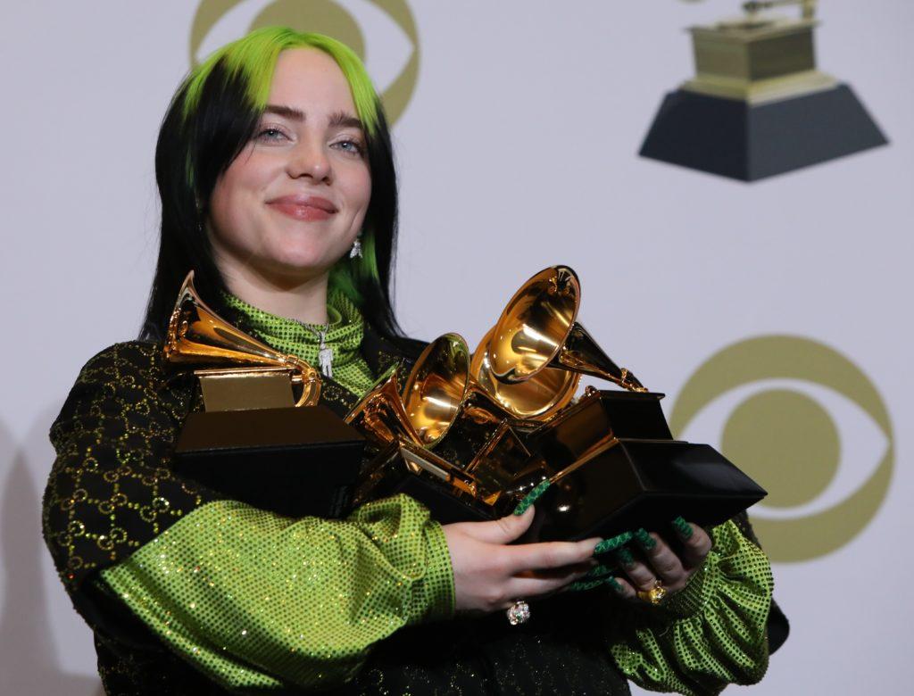18-year-old singer Billie Eilish sweeps the Grammy Awards