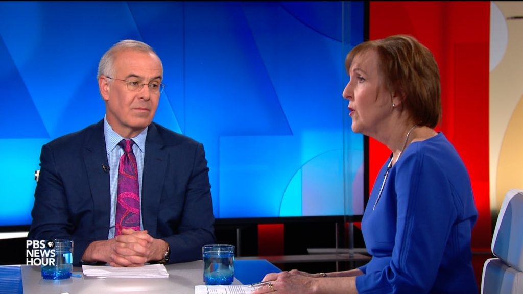 David Brooks and Karen Tumulty on Senate impeachment trial and Jim Lehrer