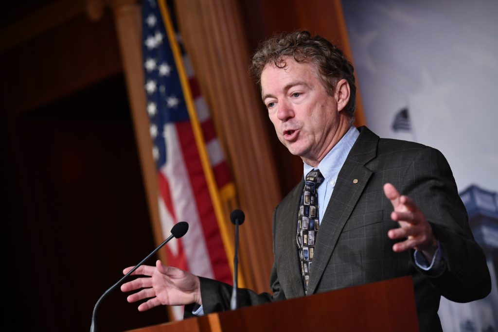 """Senator Rand Paul (R-KY) speaks to the media about the """"whistleblow…"""
